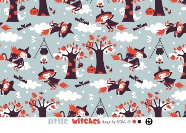 BIO Jersey Little witches, Bora, lillestoff
