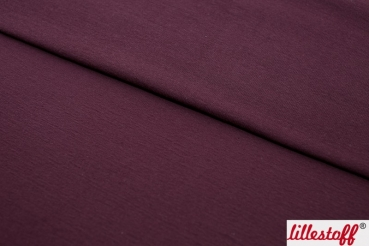 BIO Jacquard Sweat Uni berry, lillestoff