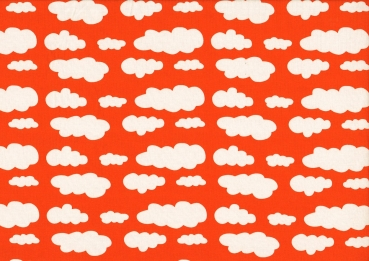 Jersey Wolken orange/weiß