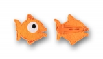 Ubang Haarspange Fisch orange, 2er Set