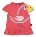 Ubang Bird T-Shirt, Vogel Shirt rot